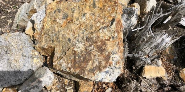 Close up of rock from our quarry.