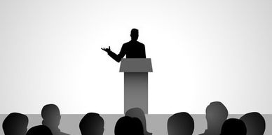 Speech writing for campaigns, awards, or motivational talks.