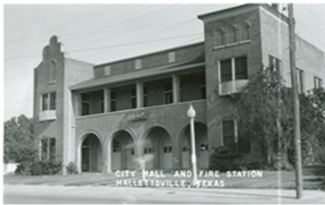 Old City Hall and Firehouse, Hallettsville, TX