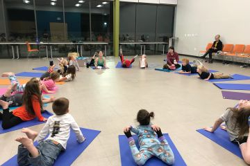 Kids Yoga at The Denham Springs Library.  Photo credit: Jeremy Travis