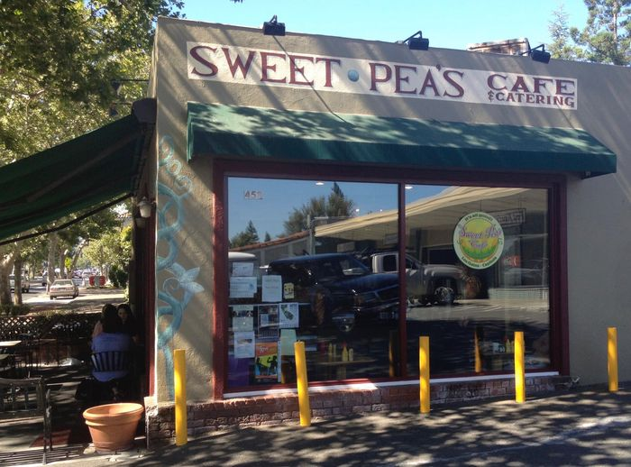 Los Gatos Sweet Pea's Cafe at 453 N. Santa Cruz Avenue