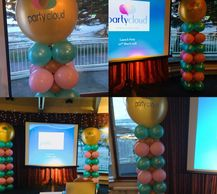 Corporate Balloons can Be enhanced by having your company logo printed on the balloons.