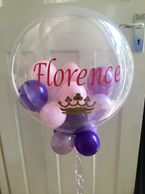 A personalised bubble with any message, this can be constructed in any colour scheme