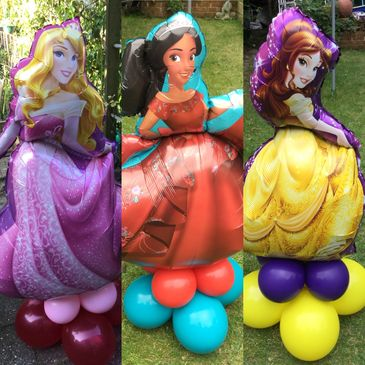 Princess shape arrangements , most princesses available. Other characters can be done too