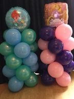 Balloon Columns with a Character balloon topper. In any theme , great for parties.
