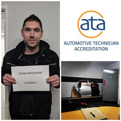 Congratulations to Adam Bookham on achieving his accreditation with the ATA