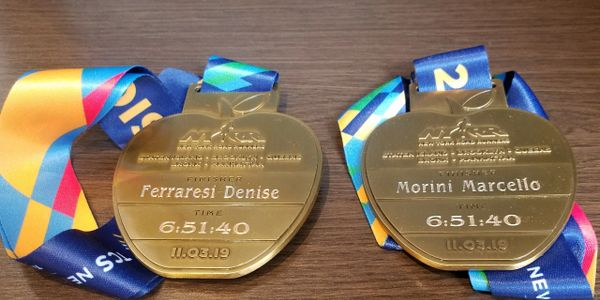 Custom Engraved NYC Marathon Medals.  Onsite Engraving Services.