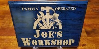 Custom Garage Sign Gifts for Men Gifts For Him Husband Gift Wooden Shop Sign Personalized Man Birthday Gift Construction Wood Workshop Sign