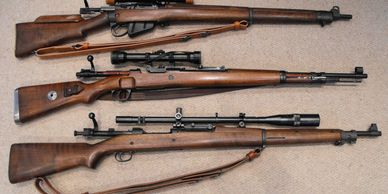 enfield mauser parker hale scopes accessories bolt action wood stock collection complete