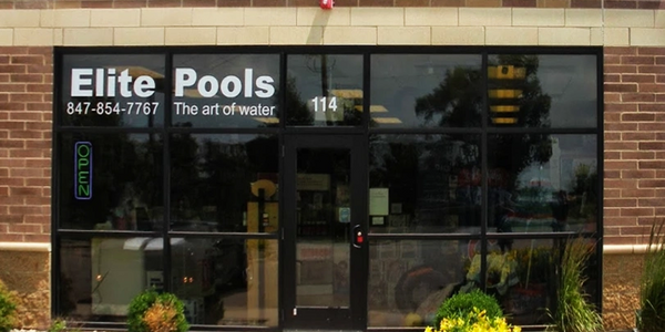 Elite Pools and Spas Store Front Location Front of buidling