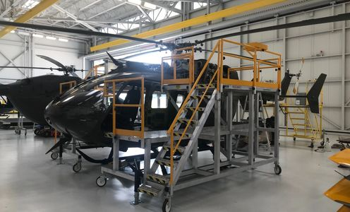Full Phase Maintenance Stand, Helicopter Stand, Military Aviation, Work Platform