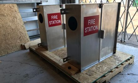 US Navy Stainless Steel Fire Station Cabinets