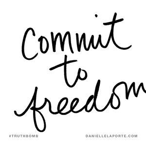 Commit to freedom from disordered eating and body image