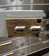 Safe deposit box lock Diebold