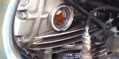 Check your engine oil regularly.