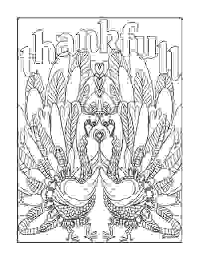 Thankful turkeys coloring page