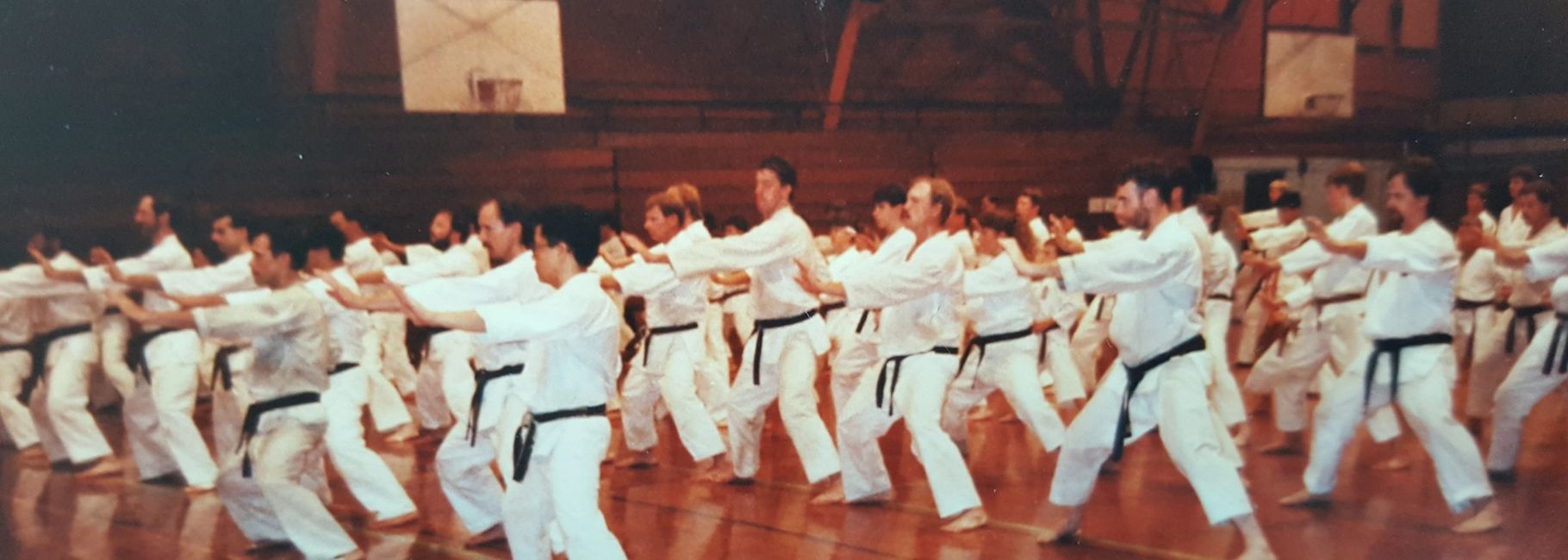 ASKF masters training in the 1980s were too large for normal size classrooms.