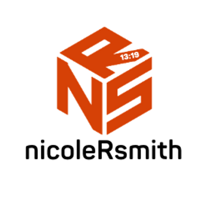 Nicole R. Smith logo in a cube with route 13:19 on the foot of the R