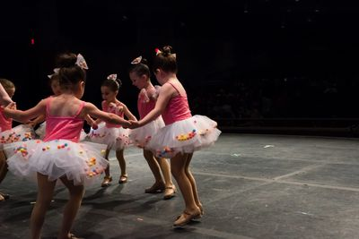 Pre-school dancers performing in dance Recital at Dracut dance studio.