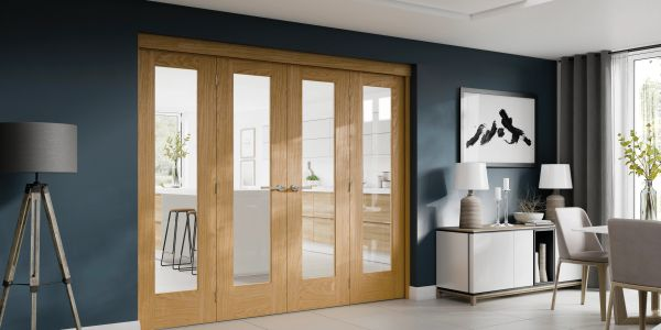Freefold bi-folding door system