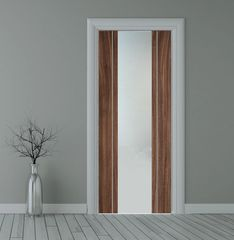 Walnut glazed bespoke door
