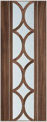 Walnut door curved