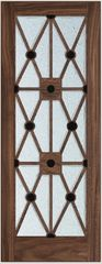 Lattice door walnut