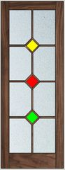 Walnut door stained glass