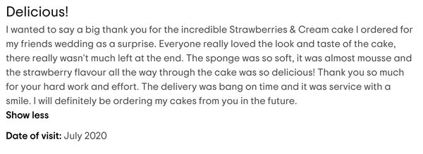 Freddie's Cake Shop Reviews