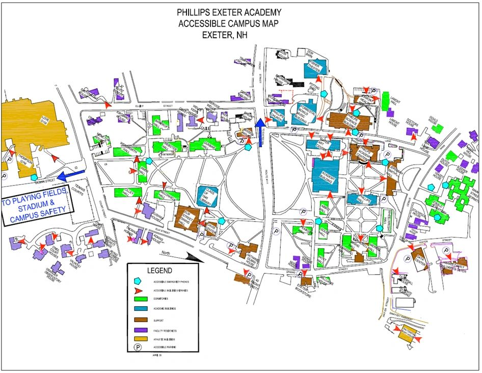 Phillips Exeter Academy Campus Map.Sessions Dark States