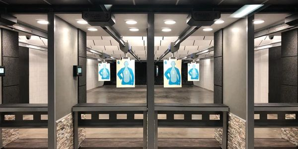 Indoor shooting range at Lone Star Shooting Sports