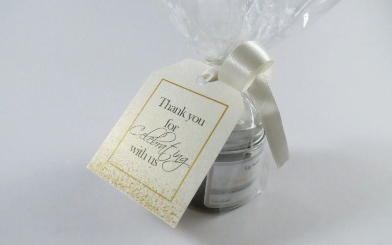 "Generic: ""Thank you for celebrating with us"" ・ Cream satin ribbon"