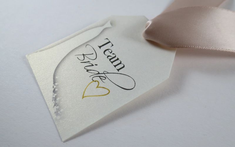 "Bridal (1): ""Team Bride"" ・ Champagne gold satin ribbon"