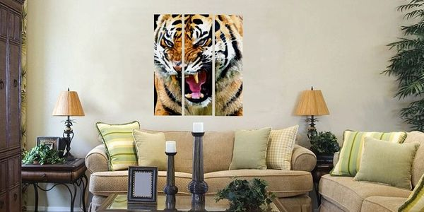 fine art painting and prints wildlife tiger animals panel art wall art home decor interior design