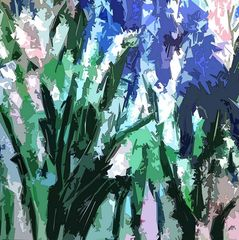 abstract garden, nature, flowers, expressionism, modern art, prints for sale,