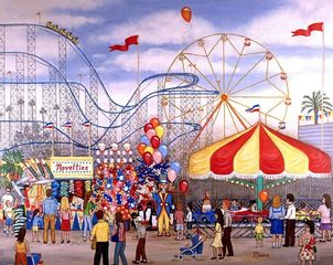 circus, carnival, family, paintings, prints