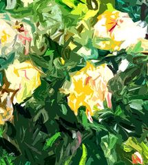 abstract flowers, abstract garden, roses, prints for sale, modern art, expressionism, roses,