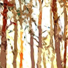 abstract forest, abstract landscape, modern art, expressionism, home decor, wall art, prints