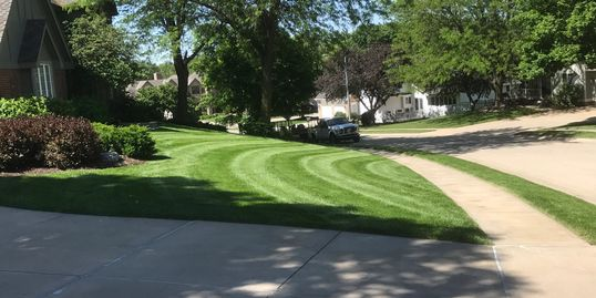Richard's yard care an Omaha lawn service.  Providing quality lawn care to West Omaha since 1997.