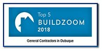 top 5 general contractors badge 2018 dubuque