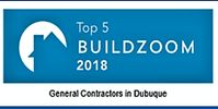top five builder badge dubuque from Build zoom