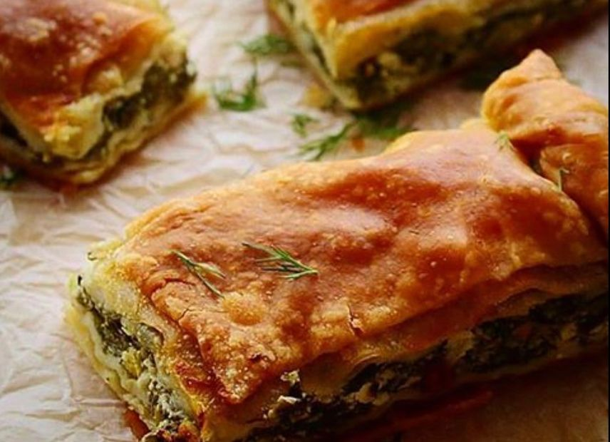 Grandma's  Famous Spanakopita! Just like it was done in the village with homemade dough!!