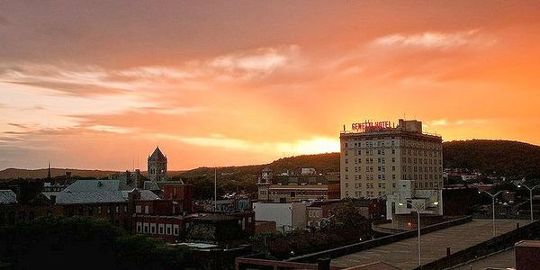 Williamsport, PA Skyline.  Commercial Real Estate