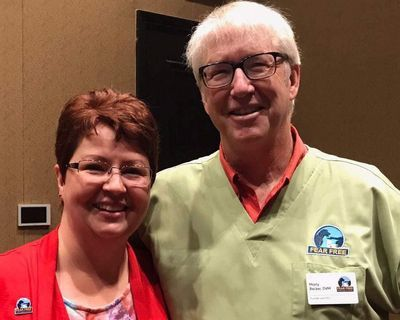 ProCare Pet Sitting and Dog Walking Founder Jennifer Savage, and Fear Free Founder Dr. Marty Becker.