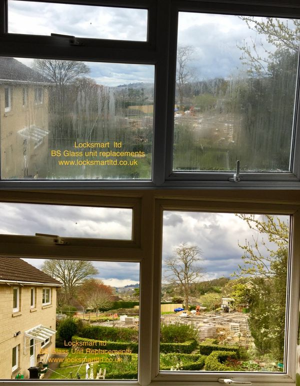Misted up double glazing