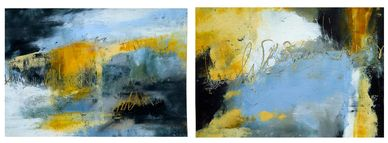 'Weathering Time' There are four paintings in this suite.  Cold wax mixed media