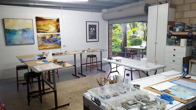 Inside my studio/workshop.