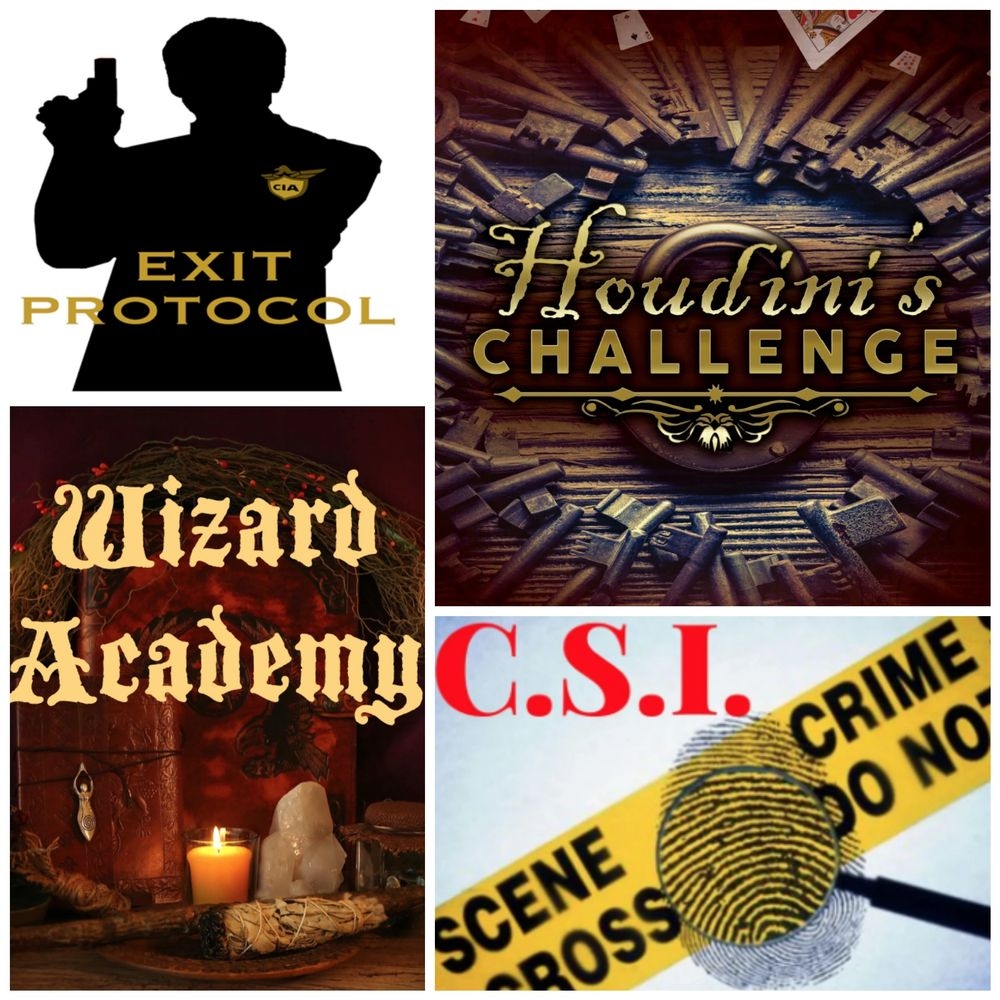 One Exit Mobile Escape Room Wizard Academy Houdini's Challenge Exit Protocol Mobile Escape Room CSI