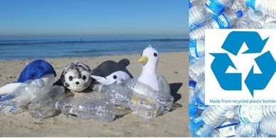 Shore Buddies stuffed animals made from recycled plastic water bottles