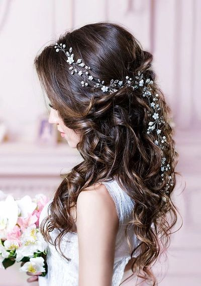 Wedding bridal vine hair accessories bride